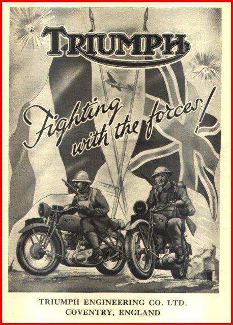 Triumph at war ad